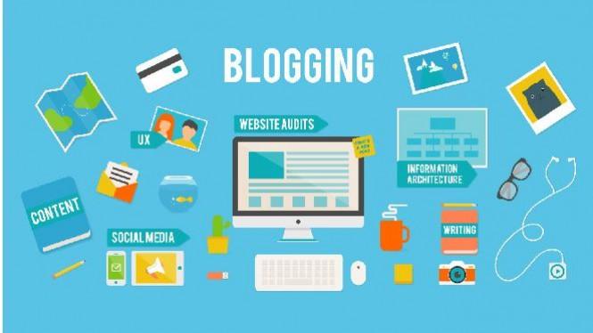Ilustrasi daftar pekerjaan seorang blogger