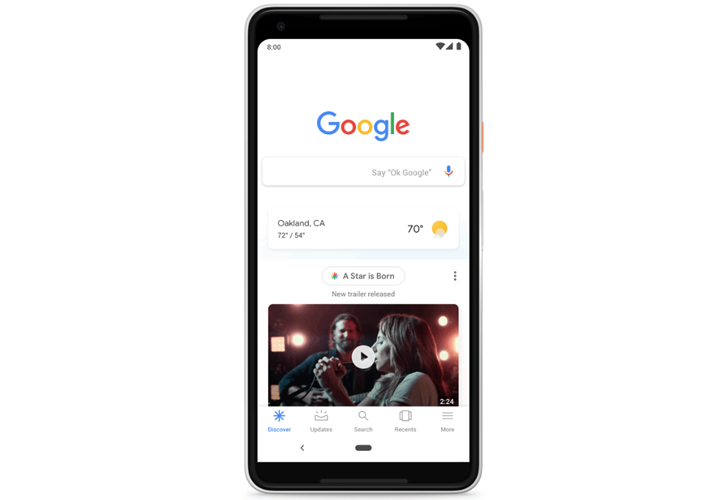 Google Discover Feed on Mobile