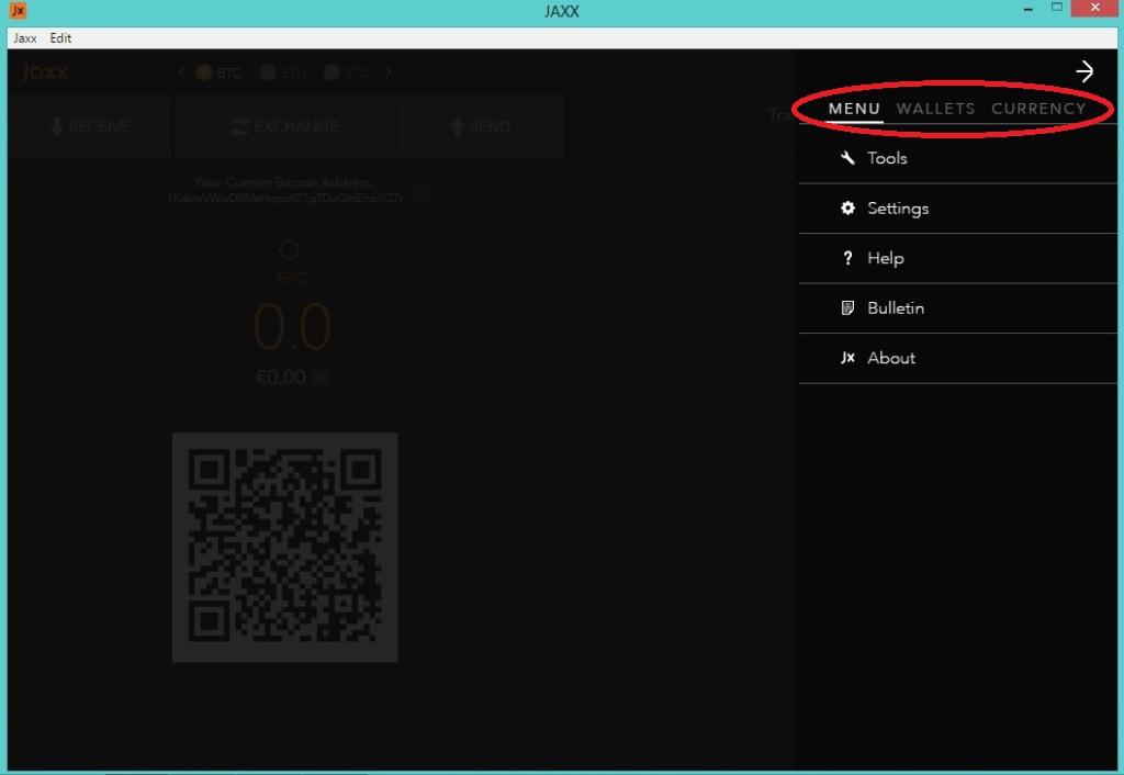 Установка и настройка мультивалютного криптокошелька Jaxx на ПК. Обзор интерфейса