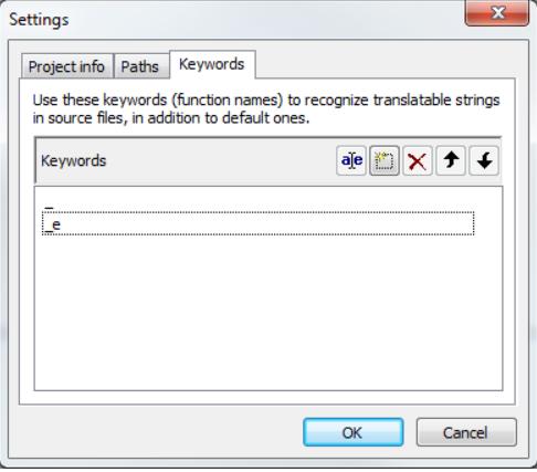 Click Keywords