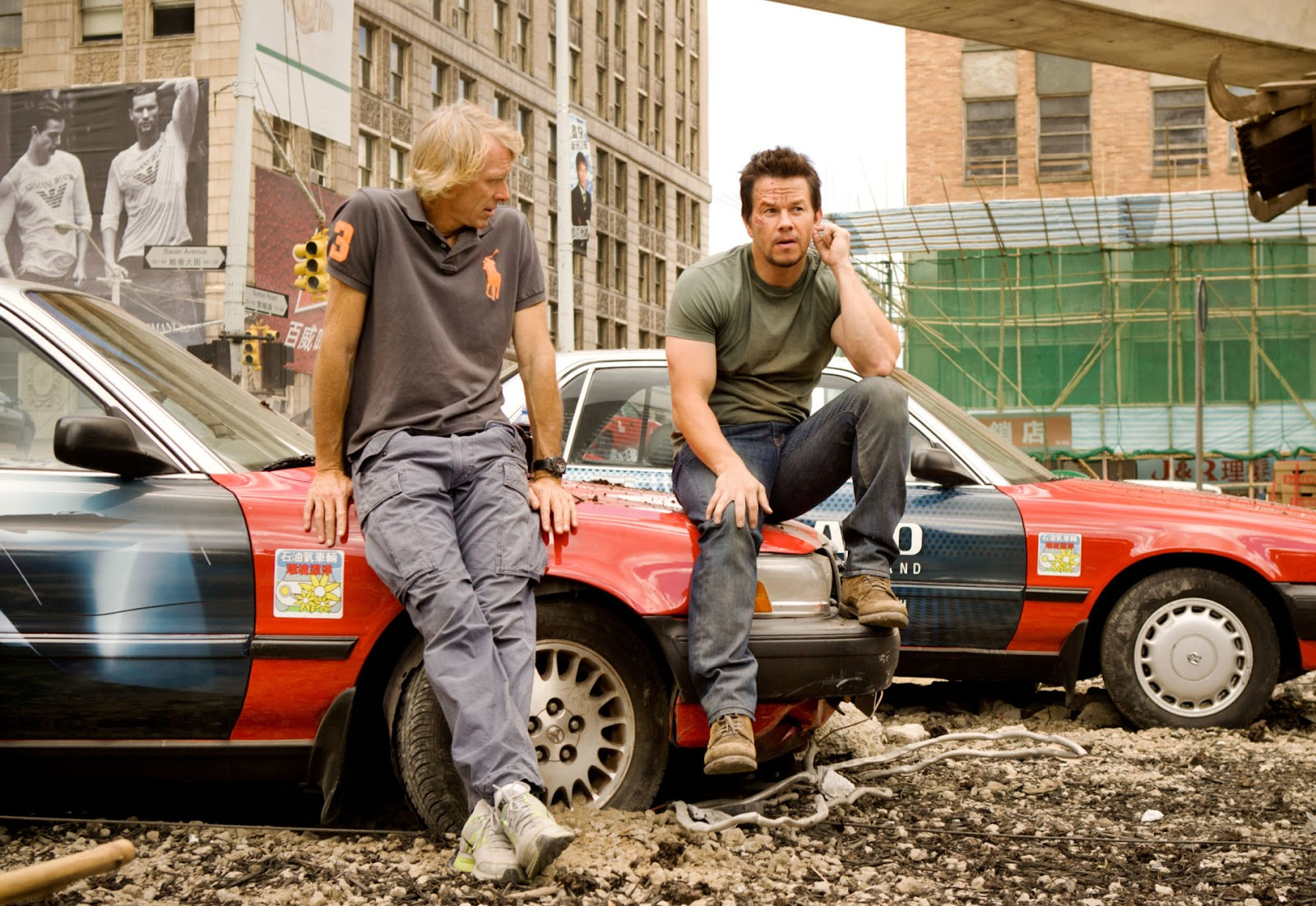 Mark Wahlberg on 'Transformers' film set