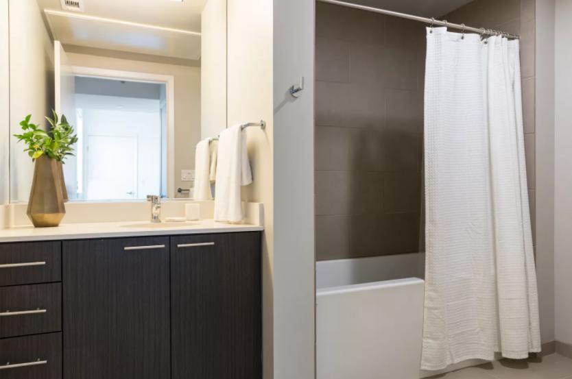 Sleek modern bath