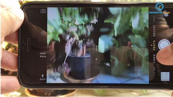 lỗi camera iPhone bị rung nhòe khi chụp hình