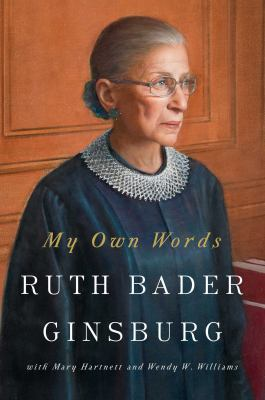 Cover of My Own Words. Justice Ginsburg looking right