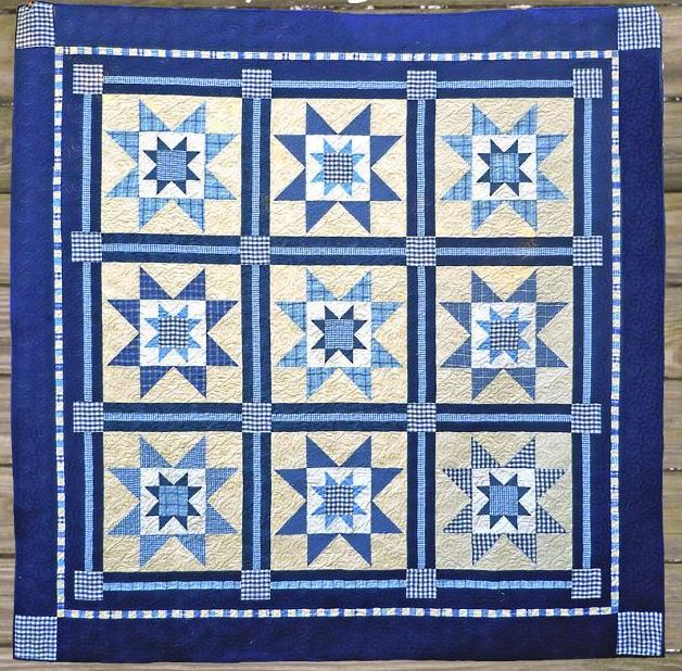 Starry Night: Single-Color Quilt Pattern on Craftsy