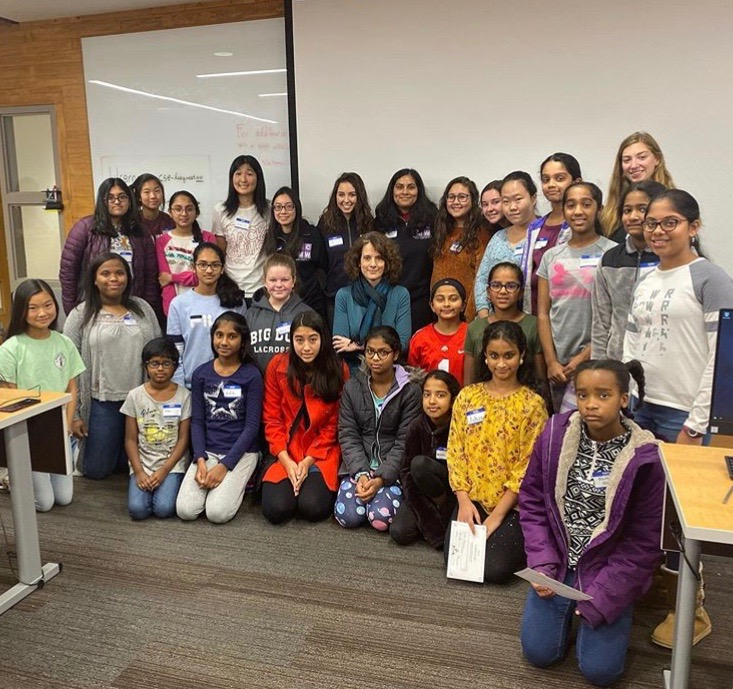 Pictured: Ohio State ACM-W and Dublin's Cool Tech Girls at Scratch Workshop