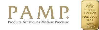PAMP logo with 1-ounce gold bar