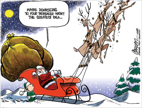 Stuart Carlson Editorial Cartoon, December 23, 2008