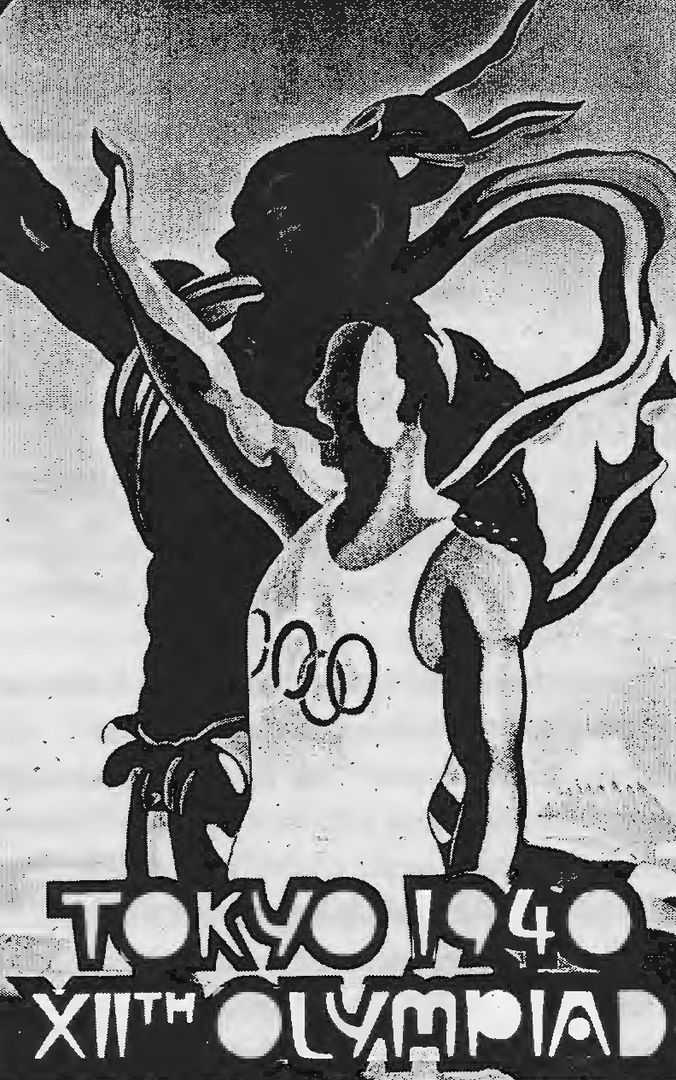 Pôster das Olimpíadas de 1940, em Tóquio, canceladas por causa da Segunda Guerra Mundial (Imagem: Wikimedia Commons)
