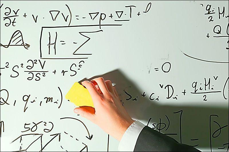 Erasing a busy whiteboard