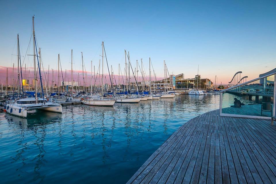 Barcos, Puerto, Reflexiones, Océano, Muelle, Viajes