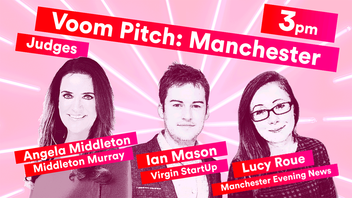 Virgin Media Manchester #VoomTour Judges | Angela Middleton, Ian Mason, Lucy Roue