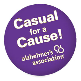Give coworkers the option to dress casual for $5.  Some of our most successful teams have raised thousands of dollars with this fantastic sticker! The Casual for the Cause sticker is an amazing way to show support for the Alzheimer's Association - plus come to work a little more comfortable!  (50 stickers per roll!)