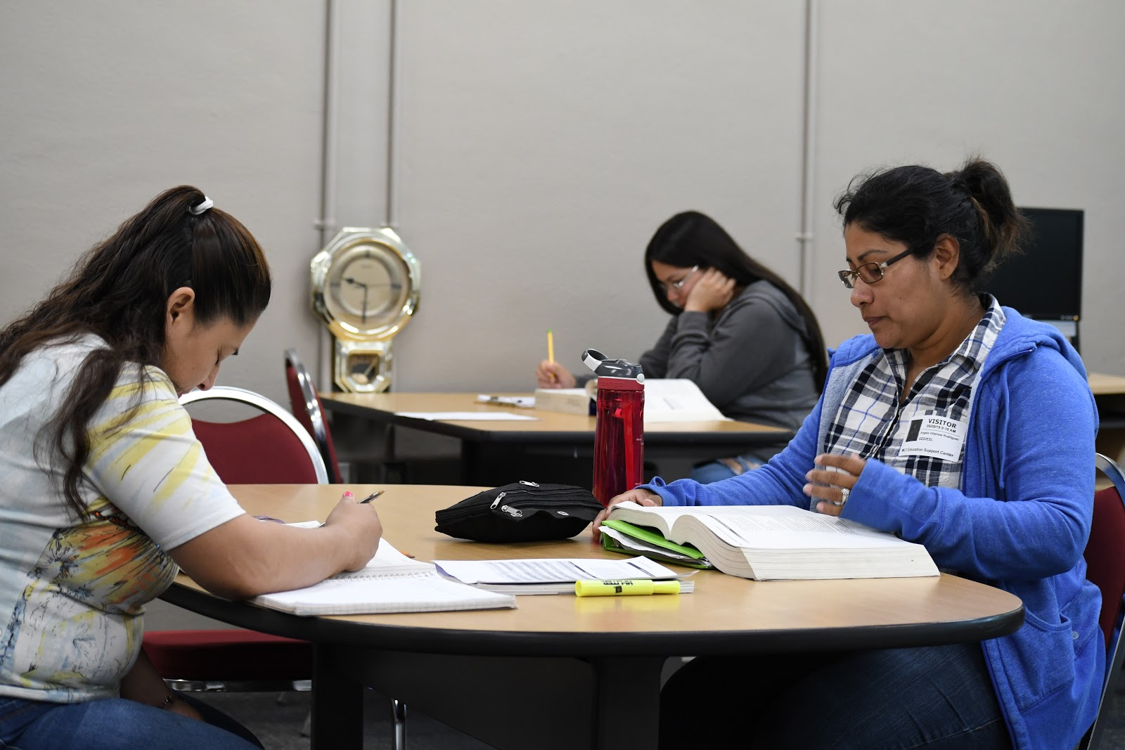 In photo:  GED prep students