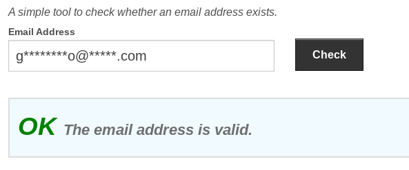 email checker interface
