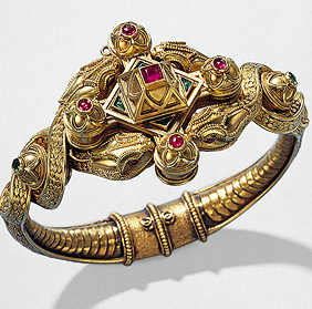 Snake Bracelet. 1860. By Michelangelo Caetani.