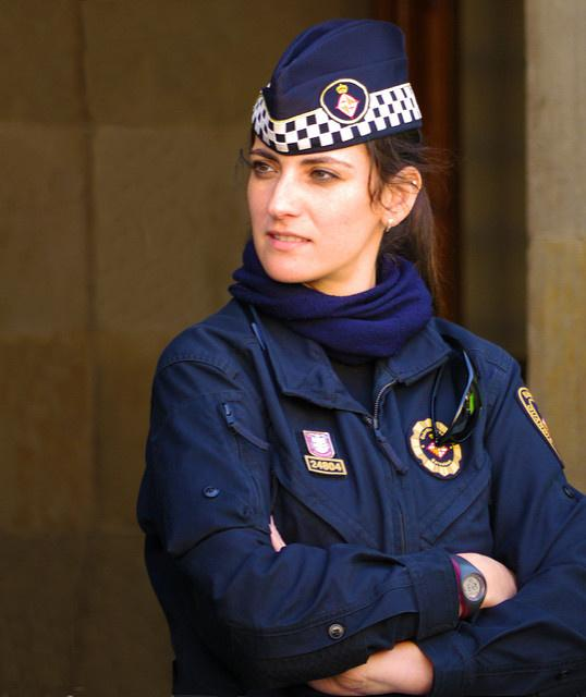 The most beautiful police girls from Spain