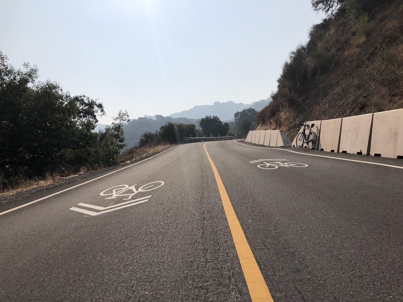 PJAMM cyclists on Hicks Road riding bike to Mt Umunhum
