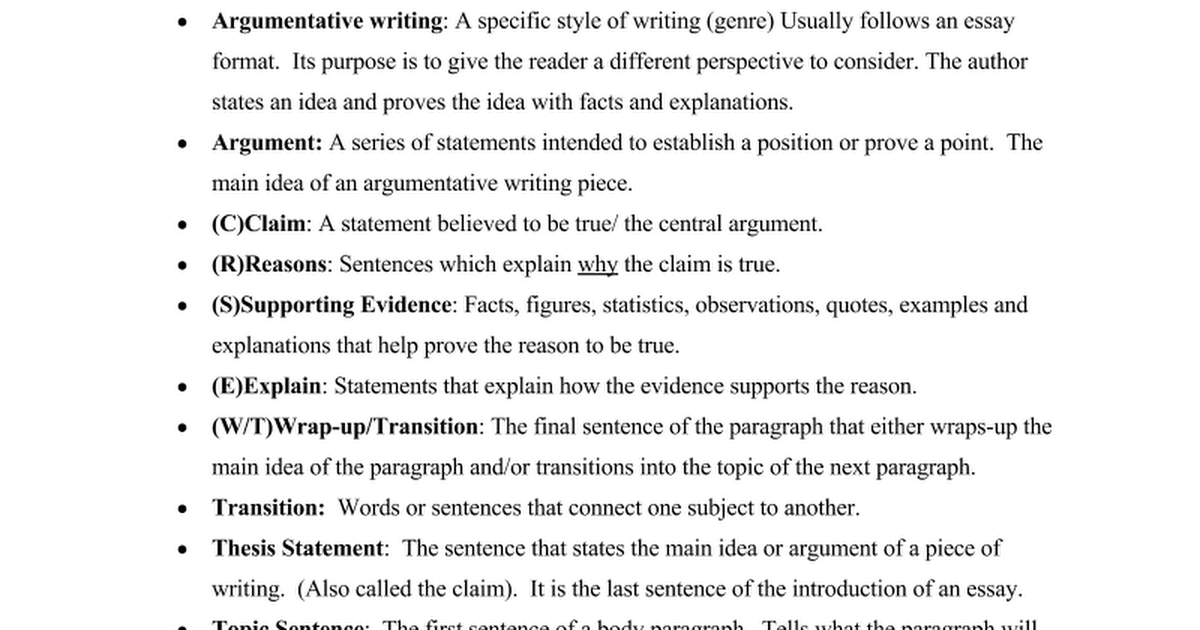 transitional words for argumentative essay Examples of transition words and phrases also called connecting or linking words, transition words and phrases help establish clear connections between ideas and ensure that sentences and paragraphs flow together smoothly, making them easier to readusing transitional words properly is crucial to the development of good writing composition skills.