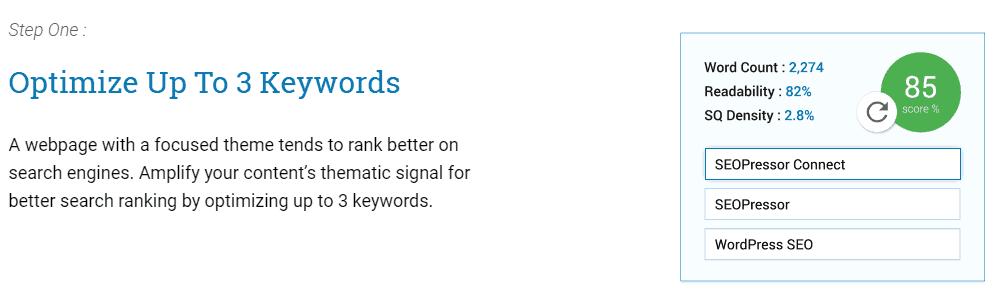 Keyword SEO score của SEOPressor