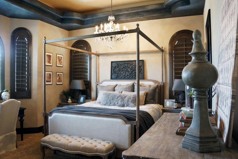 Neutral Mediterranean Bedroom Ideas