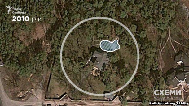 На території біля маєтку з'явилося озеро