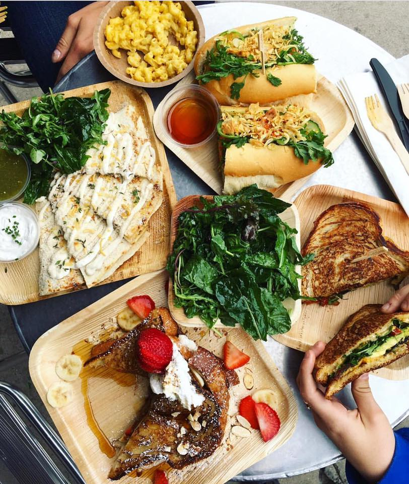 Various plates of food from The Wild Chive