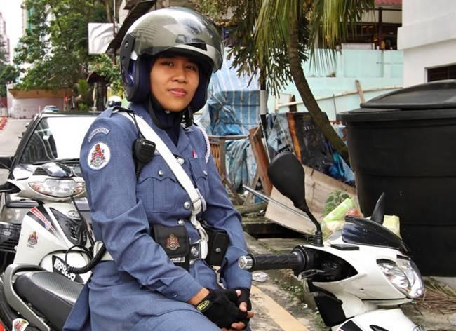 The most beautiful police girls from Malaysia