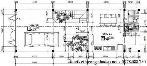 thiết kế nhà 3 tầng 5x15m