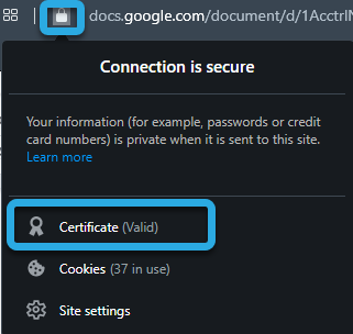 ssl connection secure example