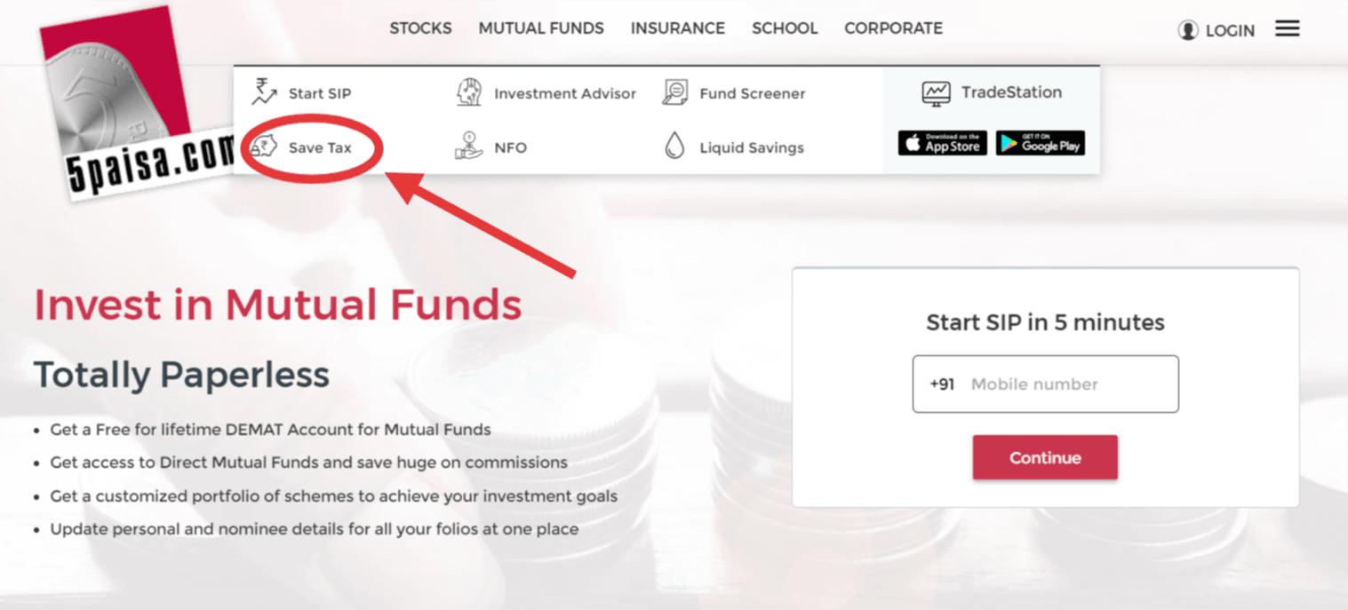 5paisa Save tax funds