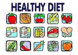 Collage of healthy foods