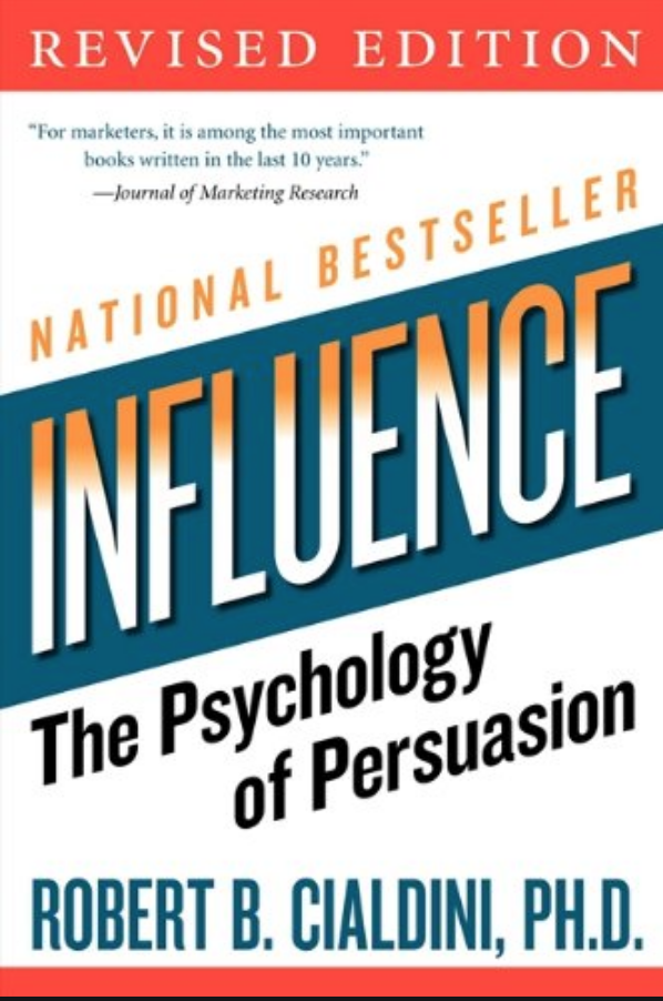 Best Marketing and Sales Book: Influence by Robert B. Cialdini
