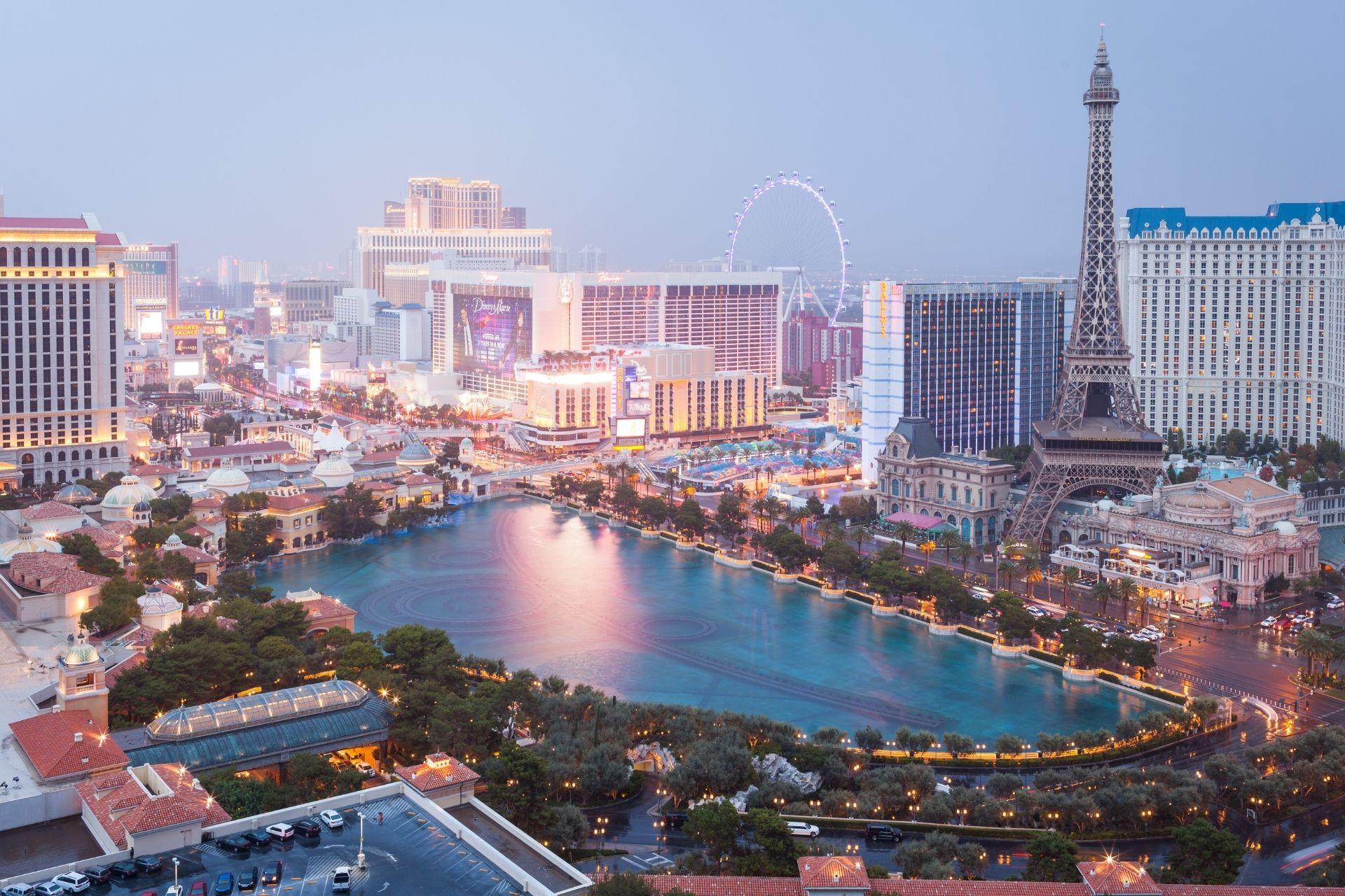 A view of Las Vegas at daytime