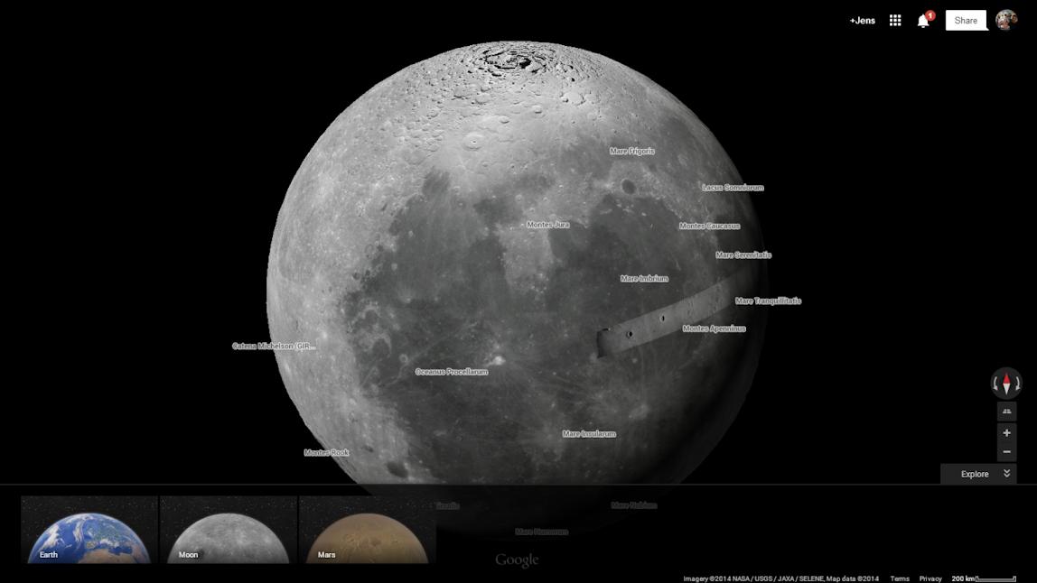 Google Maps Moon