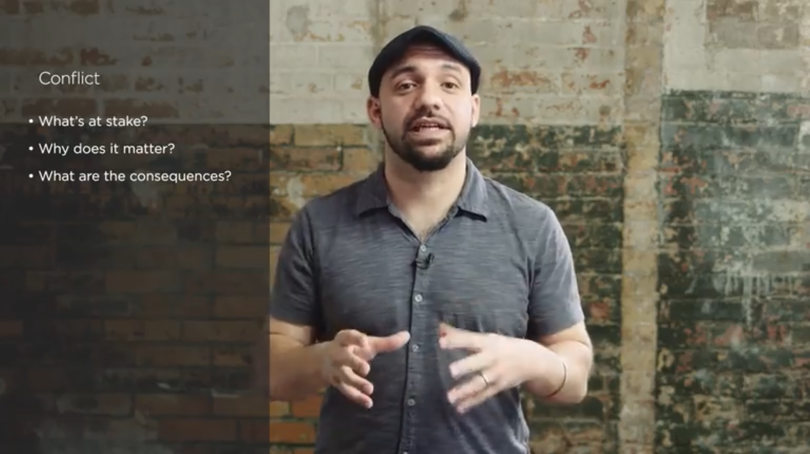 Skillshare teacher Daniel José Older explains some of the questions to ask yourself when it comes to the conflict in your story.