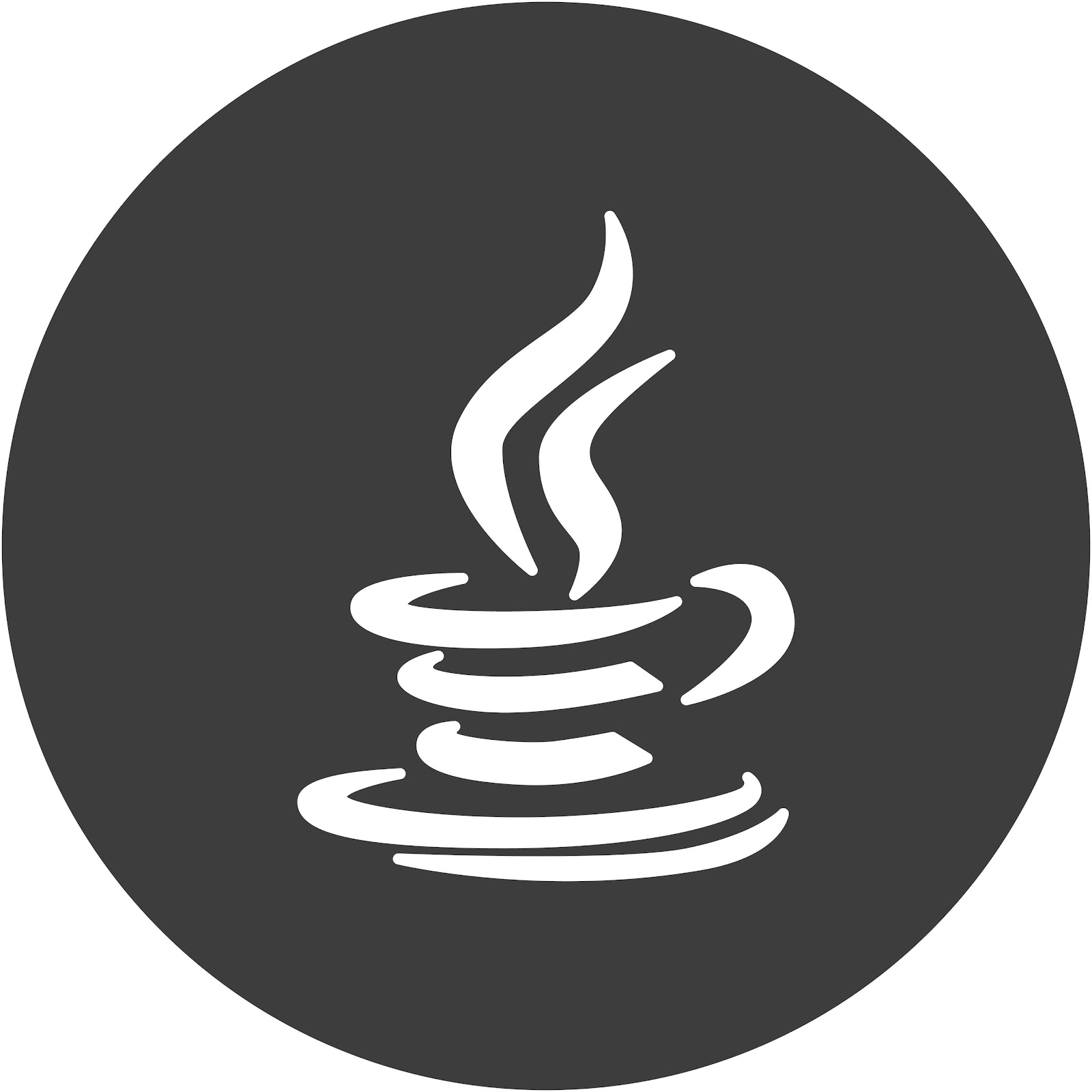 The Java coding language logo.