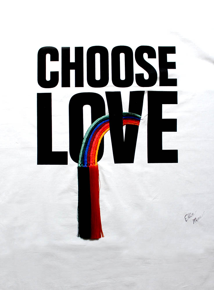 Ellie Mac's Fabric Print Take on CHOOSE LOVE T-shirt