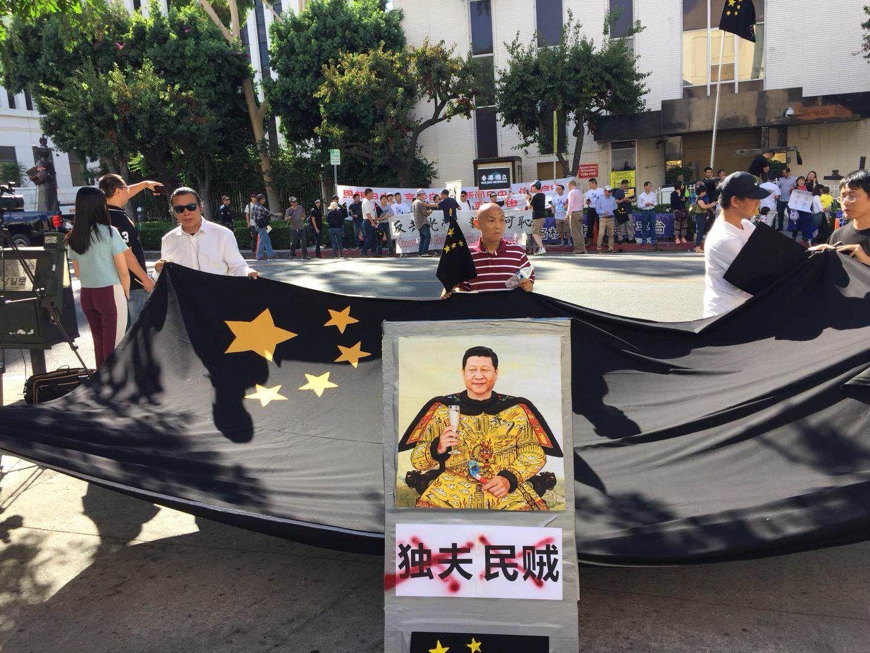 杉矶十一国殇日大游行记实