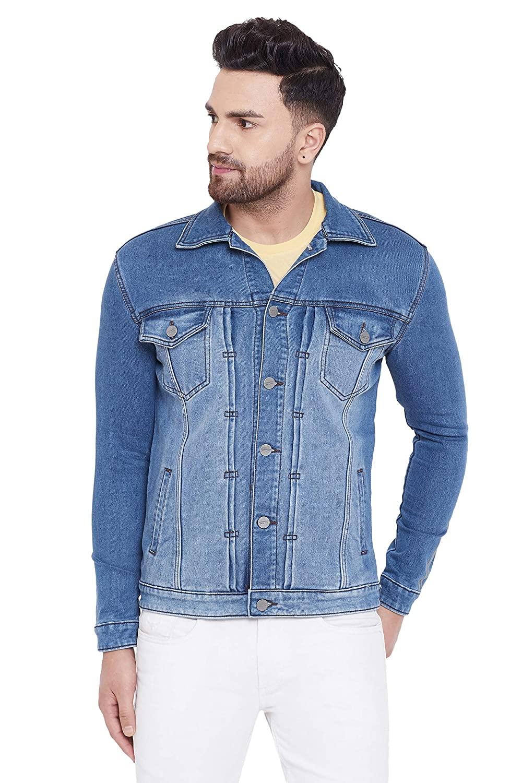 KROSSSTITCH Light Blue Denim Jacket For Men