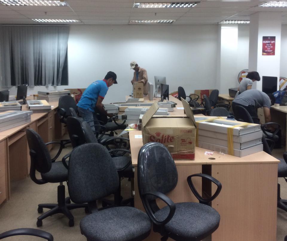 Chuyển văn phòng trọn gói giá rẻ tại Hà Nội - Bốc Xếp Hoàng Đình