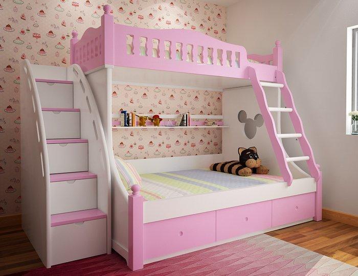 Giường ngủ đẹp cho bé gái từ 6 - 12 tuổi