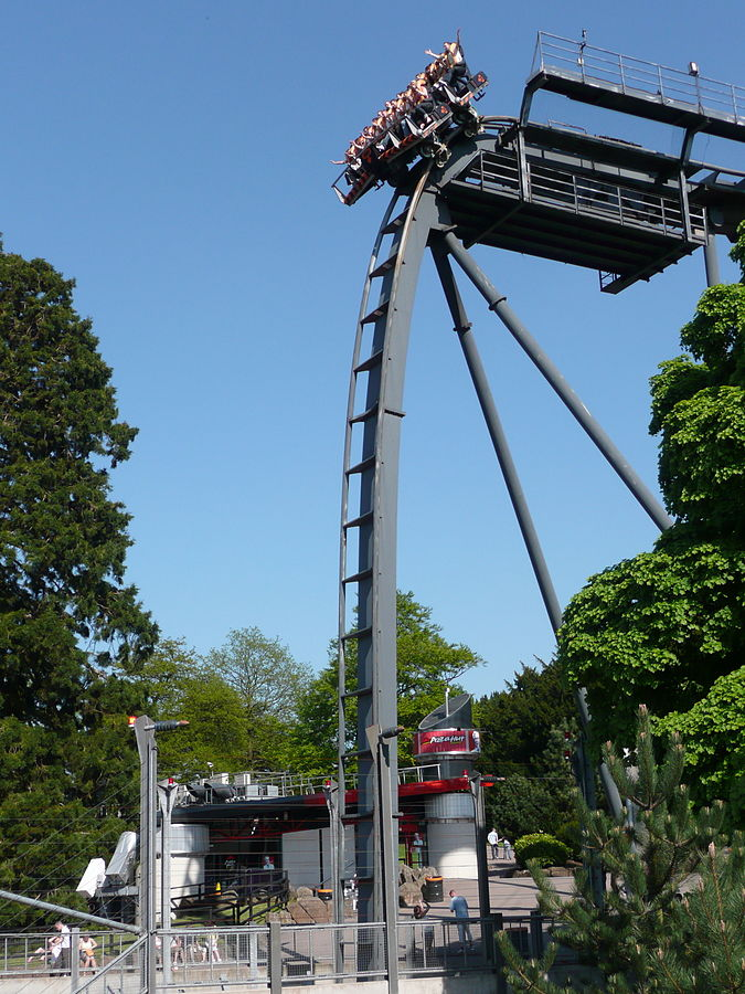 very tall theme park ride at alton towers
