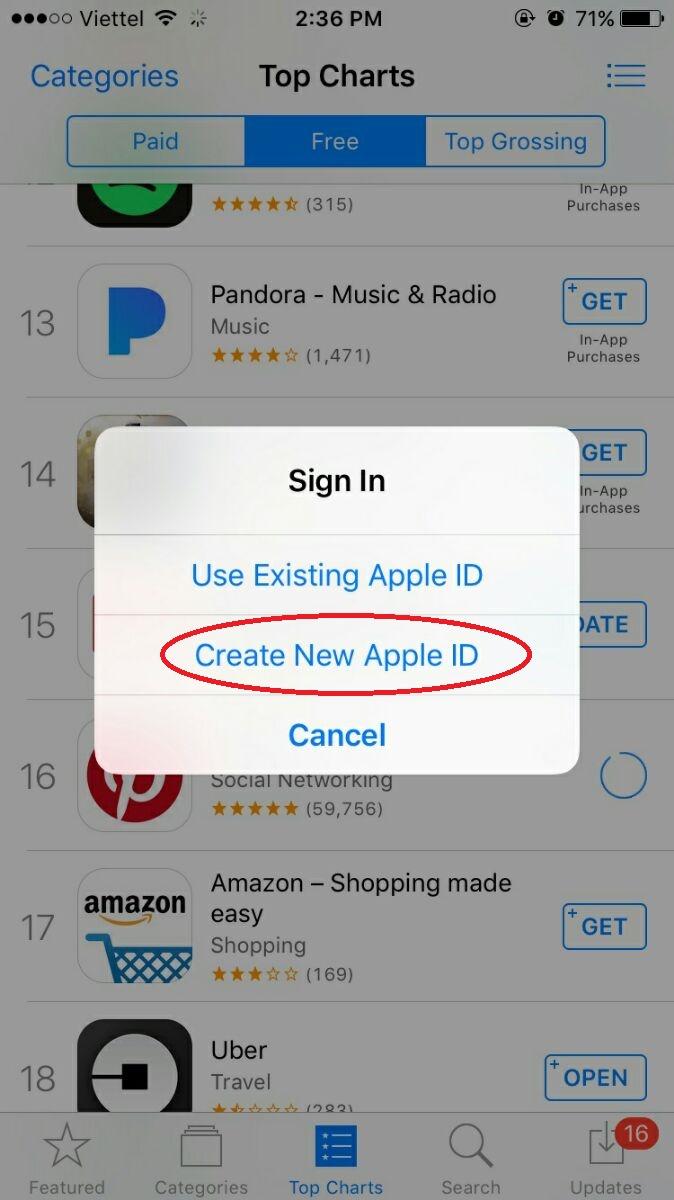 Hướng dẫn lập tài khoản iTunes US Hoa Kỳ mới nhất trên điện thoại 4