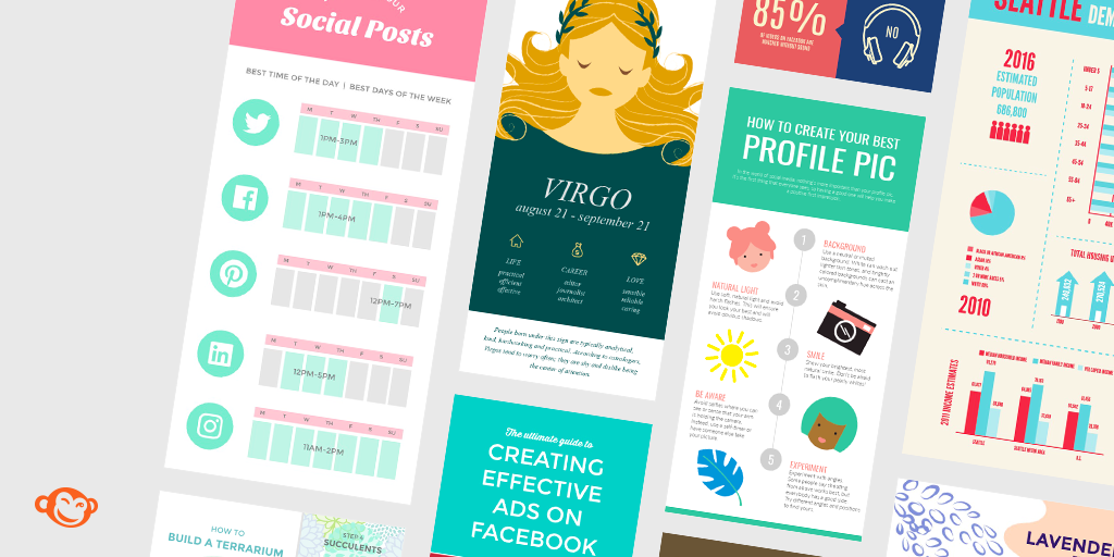 Pic monkey infographics with posters and timetables