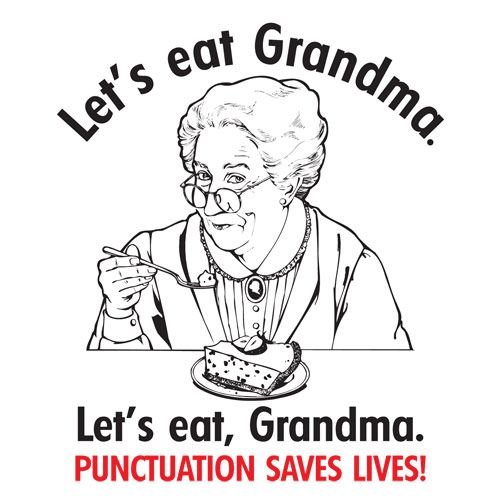 Let's eat Grandma punctuation saves lives