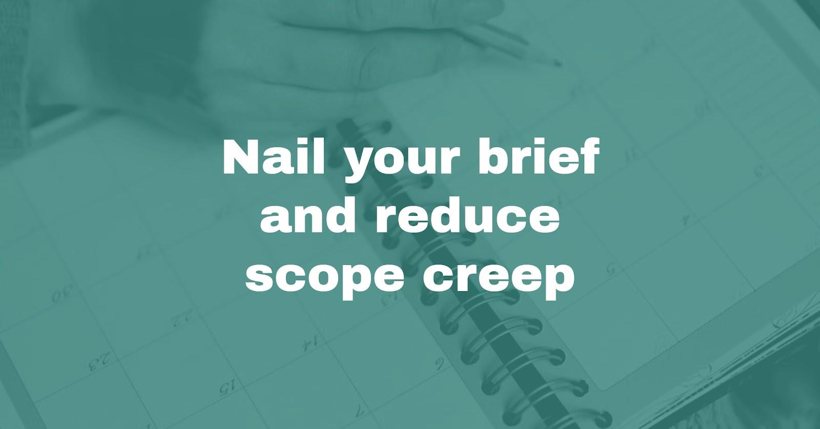 creative brief scope creep