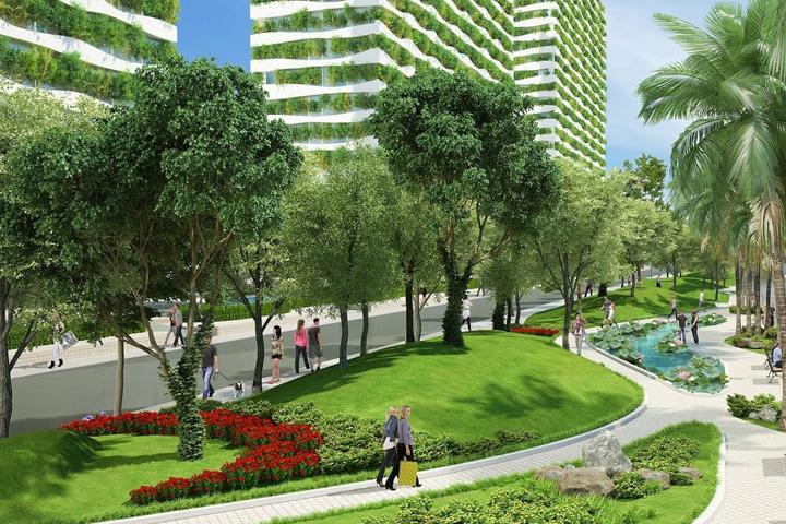 Cảnh quan cây xanh là thiết kế phổ biến ở nước ta
