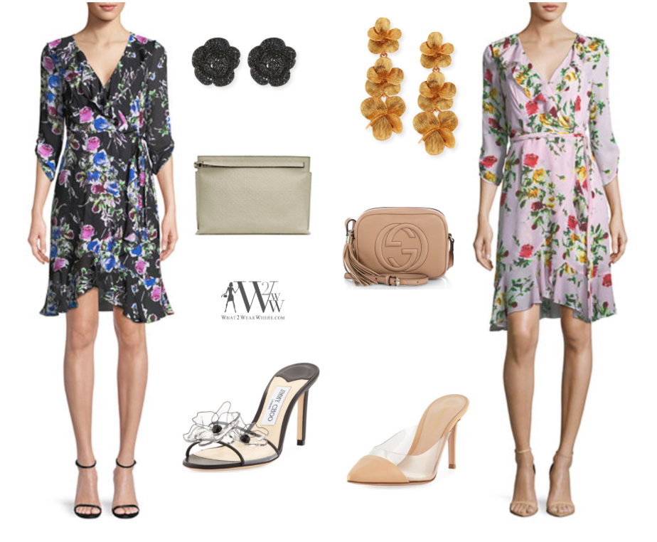 Hilary  found a  Milly Dress as a perfectly feminine, floral frock for spring flings.  The punch of bright color is the right updated touch.  This is a silhouette that will flatter any figure.