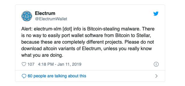 electrum wallet twitter stellar